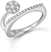 Bloomingdale's Diamond Cluster Geometric Band in 14K White Gold, .35 ct. t.w.