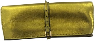 Burberry Metallic Leather Clutch bags