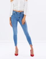 Miss Selfridge Asymmetric Step Hem Lizzie Jeans