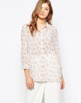 Pieces Sara Chiffon Print Shirt