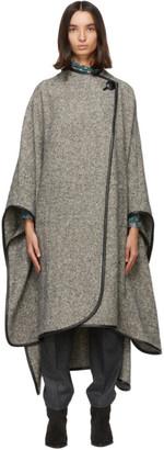 Isabel Marant Grey Poncho Gomaha Coat