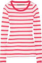 Enza Costa Striped fine-knit cashmere sweater
