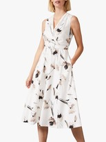 Phase Eight Rhiannon Dress, Ivory/Taupe