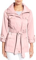 Ellen Tracy Petite Women's Techno Short Trench Coat