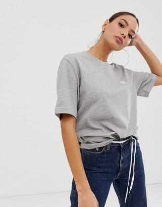 adidas Essential mini logo T- shirt in grey