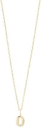 Bony Levy 14K Gold Petite Number Pendant Necklace