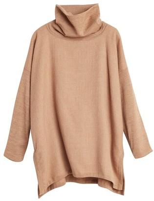 Cuyana Baby Alpaca Oversized Turtleneck Sweater