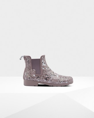 Hunter Women's Refined Particle Print Slim Fit Chelsea Boots