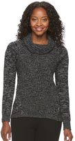 Croft & Barrow Petite Marled Cowlneck Sweater