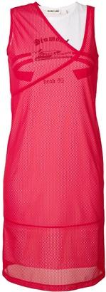 Helmut Lang mesh layer dress