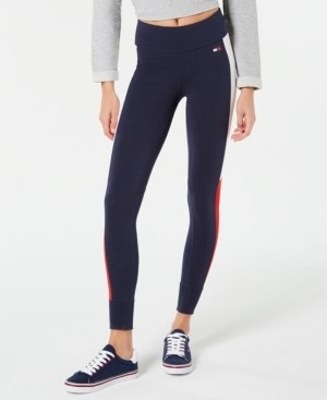 Tommy Hilfiger Colorblocked Logo Leggings, Created for Macy's