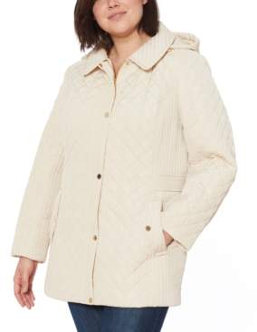 Jones New York Plus Size Quilted Hooded Jacket