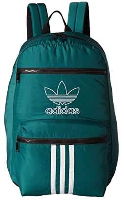 adidas Originals National 3-Stripes Backpack (Noble Green) Backpack Bags