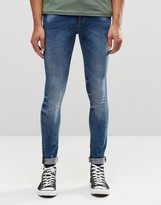 Pull&bear Super Skinny Jeans In Mid Blue