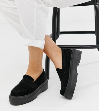 Asos DESIGN Wide Fit Vamped chunky loafers