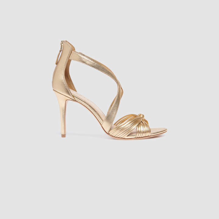 Sandro Leather sandals with bows