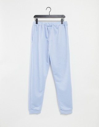 Miss Selfridge slim jogger in blue
