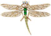 Betsey Johnson Gold-Tone Multi-Crystal Dragonfly Pin