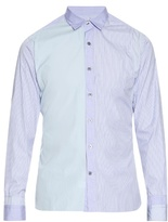 Lanvin Multi-panel Striped Cotton-poplin Shirt