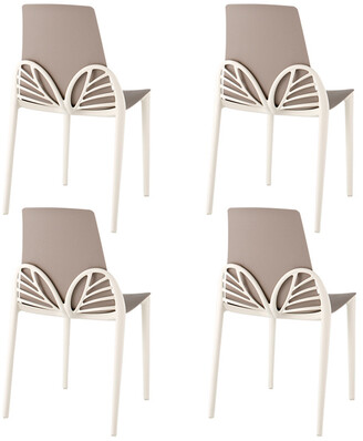 Set Of 4 Lagoon Papillon Dining Chairs