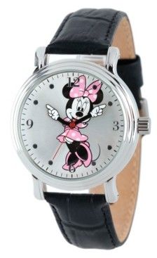 EWatchFactory Disney Minnie Mouse Women's Shiny Silver Vintage Alloy Watch