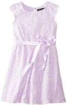 Ruby Rox Big Girls' Keyhole Lace Dress
