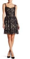 Minuet Gold Flake Fit & Flare Dress