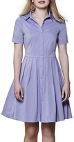 Yumi Short Sleeve Shirt Dress, Blue