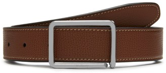 Mulberry Reversible Wire Buckle Belt Tan and Black Cross Grain Leather and Smooth Calf