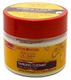 Crème of Nature Argan Oil Twirling Custard Gel 11.5 Ounce (340ml) (6 Pack)