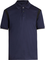 Lanvin Contrast-panel cotton polo shirt