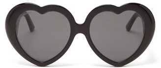 Balenciaga Heart Acetate Sunglasses - Womens - Black