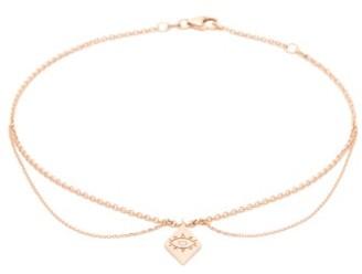 Diane Kordas Evil Eye Diamond & 14kt Rose-gold Anklet - Rose Gold