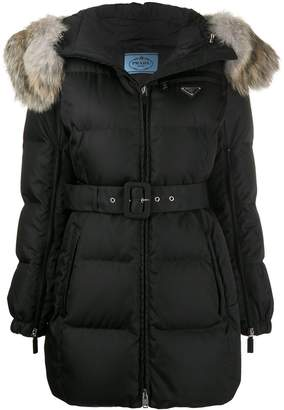 Prada padded hooded jacket