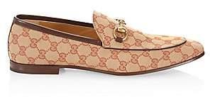 Gucci Men's Jordaan GG Horsebit Canvas Loafers