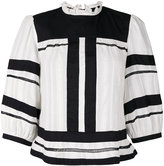 Etoile Isabel Marant stripe panel top - women - Cotton - 38
