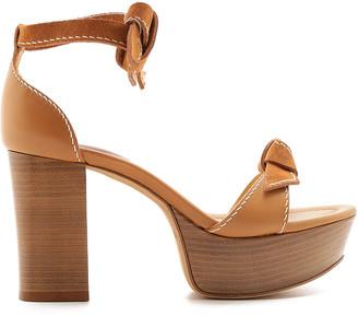 Alexandre Birman Clarita Bow-Detail Leather Sandals