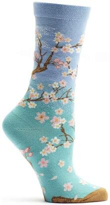 Ozone Women's 4 Seasons: Spring Sock Turquoise 9-11