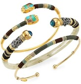 Thumbnail for your product : Gas Bijoux 24K Goldplated Embellished 3-Piece Cuff Bracelet Set