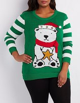 Charlotte Russe Plus Size Light Up Ugly Holiday Sweater