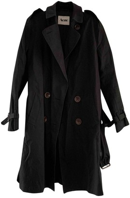 Acne Studios Black Cotton Trench Coat for Women