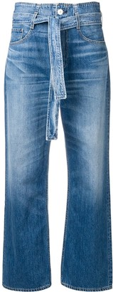 3x1 Belted Bootcut Jeans