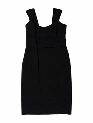 Gucci Wool Midi Length Dress Wool