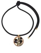 Marni Pyrite, Crystal & Leather Rope Knot Necklace
