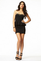 Forever 21 Spiked Peplum Bodycon Dress