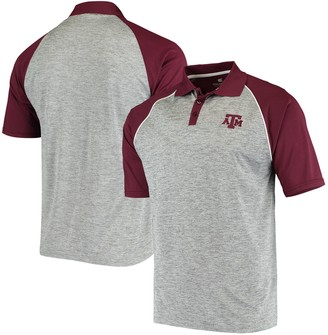 Colosseum Men's Heathered Gray Texas A&M Aggies Rentaswag Raglan Polo