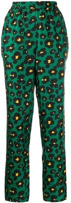 La DoubleJ Leopard Print Trousers