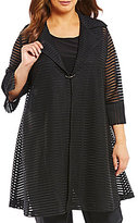 IC Collection Sheer Stripe Jacket