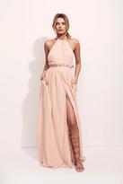 Mara Hoffman Womens GAUZE HALTER DRESS