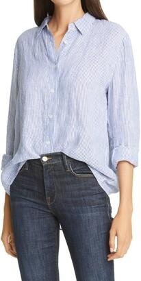 Nordstrom Signature Stripe Linen Shirt